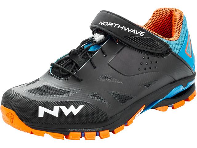 Northwave Spider 2 Sko Herrer, black/blue/orange